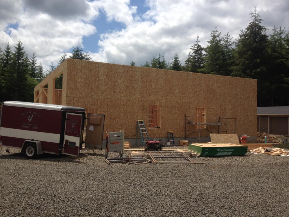 3 bay garage steven w johnson construction inc for Three bay garage