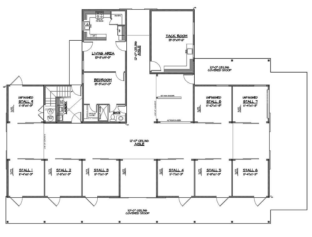 Small horse barn plans for healthy horses so replica for Horse barn layouts floor plans
