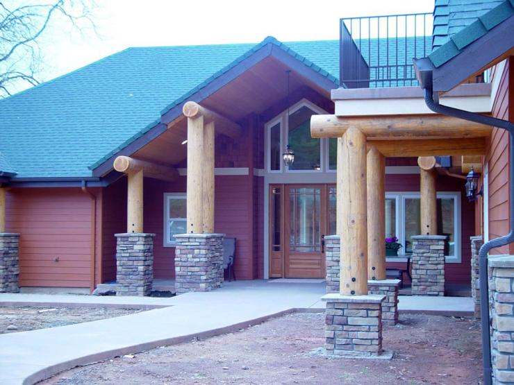 ADA log home