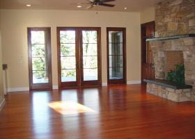 Wood windows and doors.