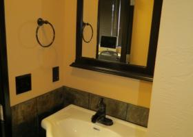 Small commercial bathroom addition