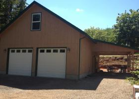 Detached Garage and wood shop