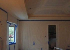 After: framing and sheetrock