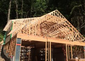 Rolling trusses for roof framing
