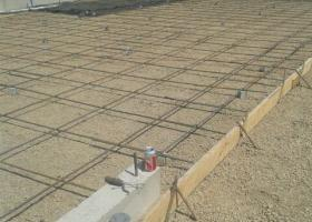 rebar in place