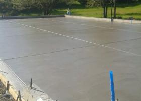 concrete is poured