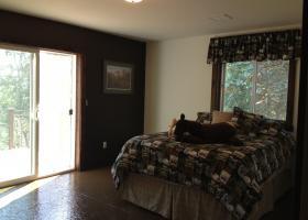 Reclaimed cedar trim, new paint and sub floor sealed.