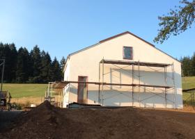 Work on the exterior finish