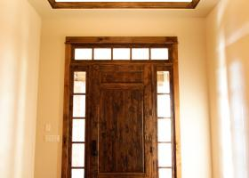 8' custom-built knotty alder doors